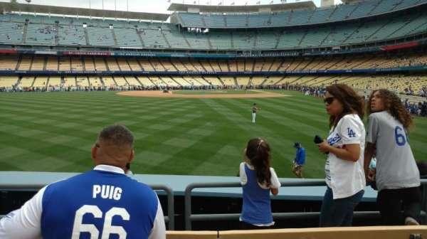 Dodger Stadium, secção: 303PL, fila: D, lugar: 9