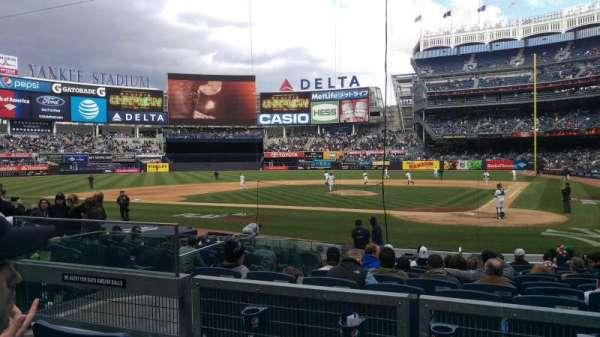 Yankee Stadium, secção: 121b, fila: 3, lugar: 8
