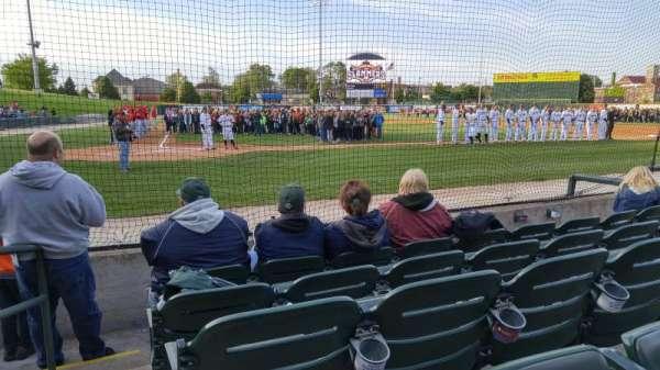 Joliet Route 66 Stadium, secção: 107, fila: E, lugar: 10