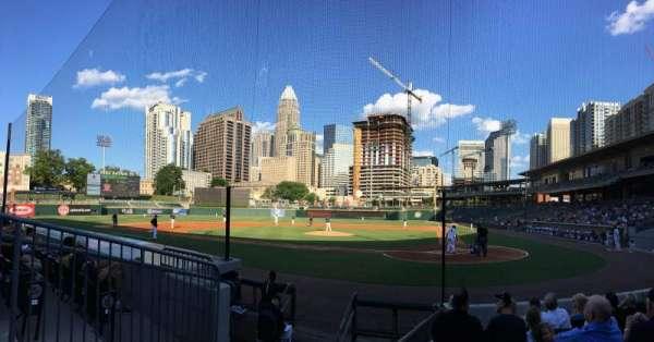 BB&T Ballpark (Charlotte), secção: 113, fila: K, lugar: 10