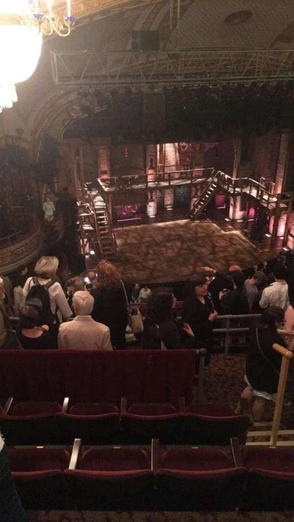 Richard Rodgers Theatre, secção: Rear Mezzanine L, fila: L, lugar: 19
