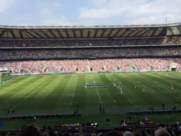 Twickenham Stadium, secção: M7, fila: 63, lugar: 188