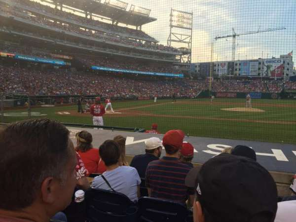 Nationals Park, secção: 128, fila: H, lugar: 9