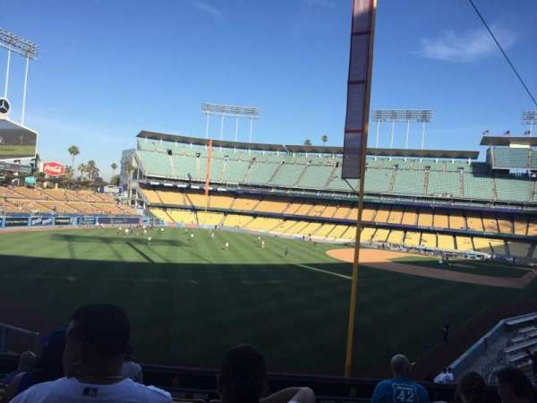 Dodger Stadium, secção: 165LG, fila: H, lugar: 1