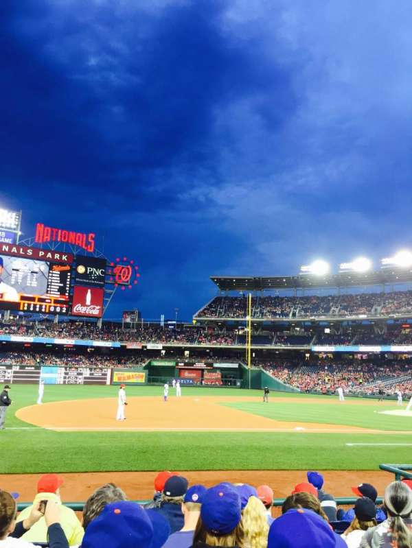 Nationals Park, secção: 115, fila: H, lugar: 18