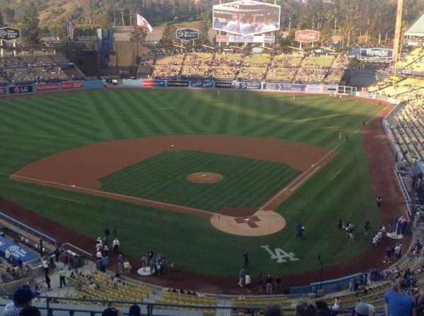 Dodger Stadium, secção: 5RS, fila: M, lugar: 12