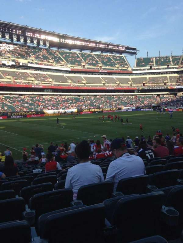 Lincoln Financial Field, secção: 134, fila: 21, lugar: 12