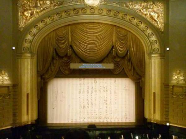 War Memorial Opera House, secção: Grand Tier, fila: C, lugar: 108
