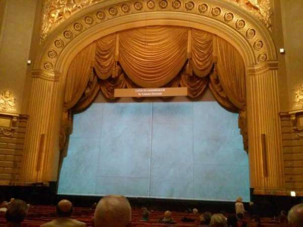 War Memorial Opera House, secção: Orchestra, fila: U, lugar: 116