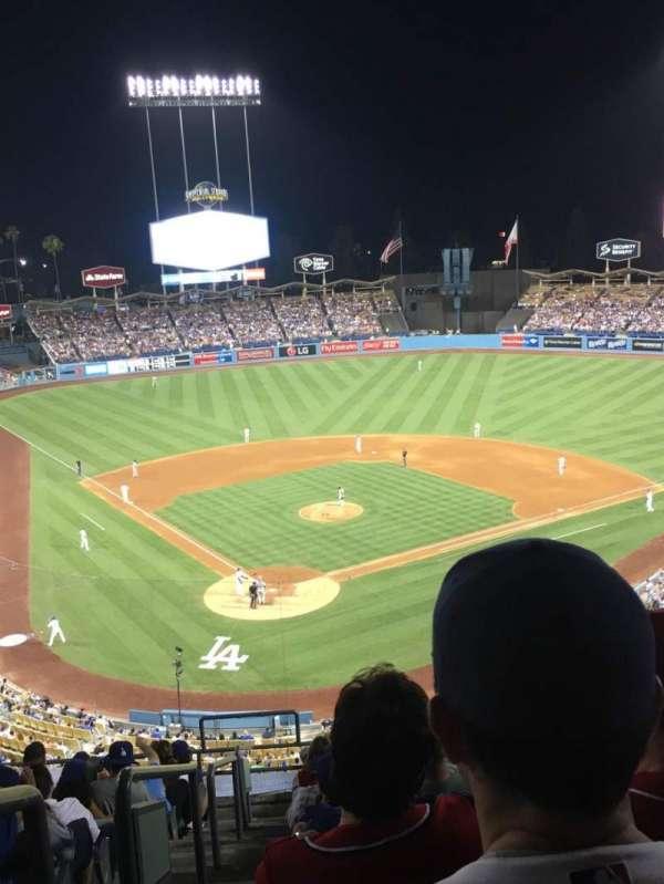Dodger Stadium, secção: 4RS, fila: M, lugar: 1