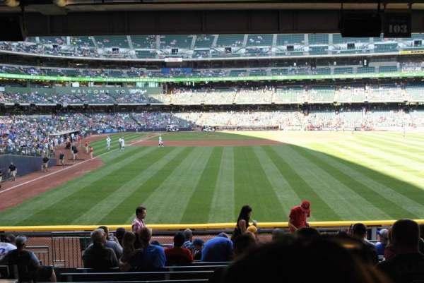 American Family Field, secção: 103, fila: 13, lugar: 5