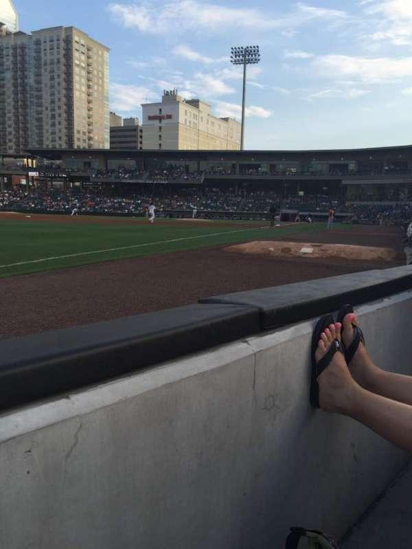 BB&T Ballpark (Charlotte), secção: 120, fila: A