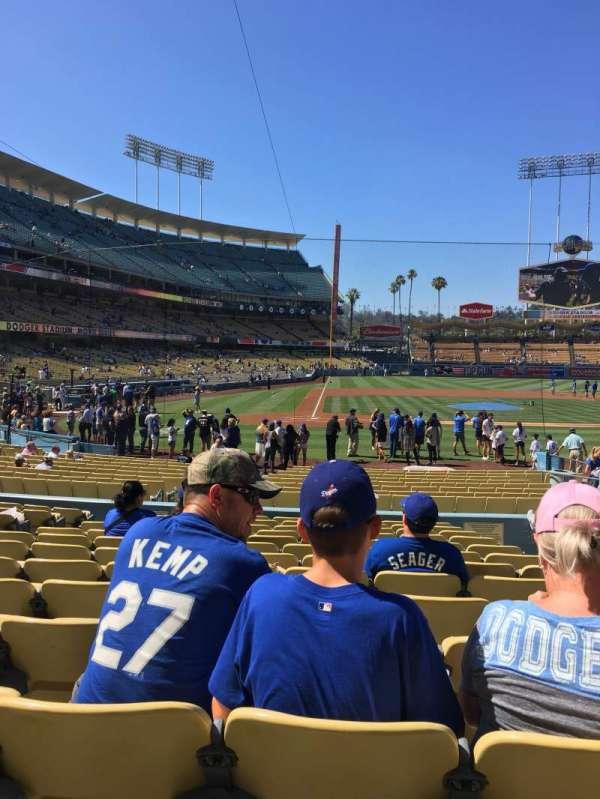 Dodger Stadium, secção: 10FD, fila: N, lugar: 10