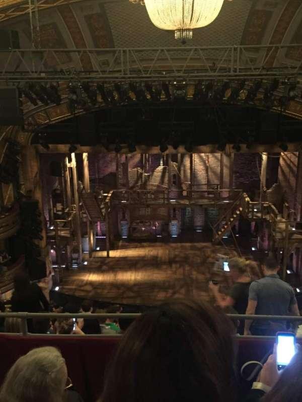 Richard Rodgers Theatre, secção: Rear Mezzanine C, fila: J, lugar: 108