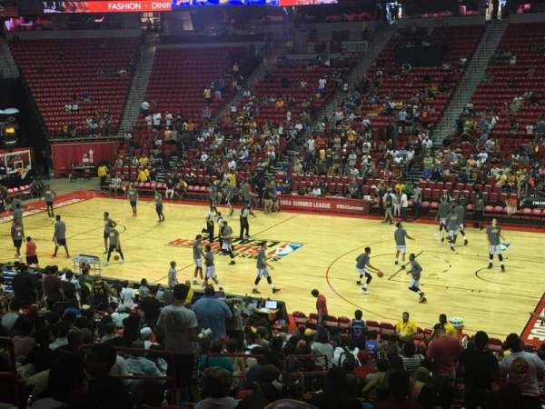Thomas & Mack Center, secção: 115, fila: s, lugar: 14
