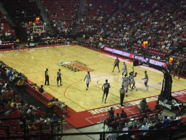 Thomas & Mack Center, secção: 102, fila: U, lugar: 21
