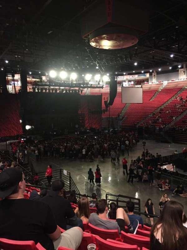 Viejas Arena, secção: U, fila: 15