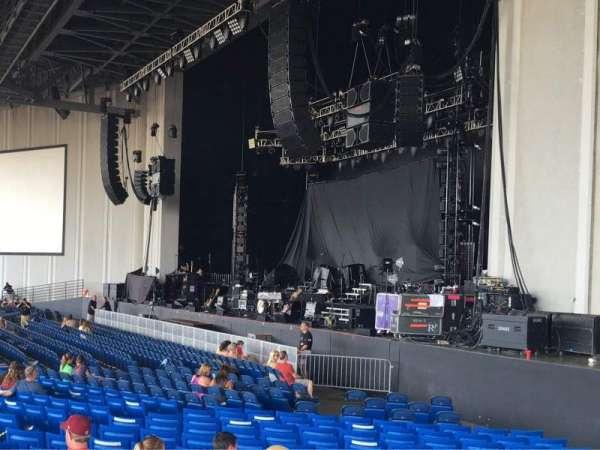 PNC Music Pavilion, secção: 1, fila: W, lugar: 7