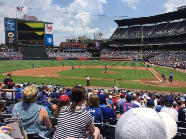 Turner Field, secção: 108R, fila: 23, lugar: 6