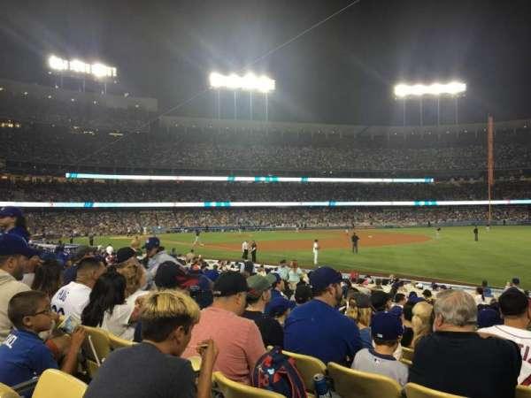 Dodger Stadium, secção: 42FD, fila: M, lugar: 1