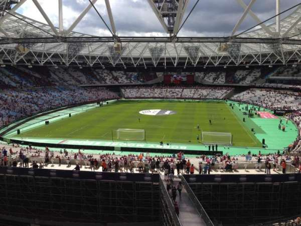 London Stadium, secção: 252, fila: 51, lugar: 818