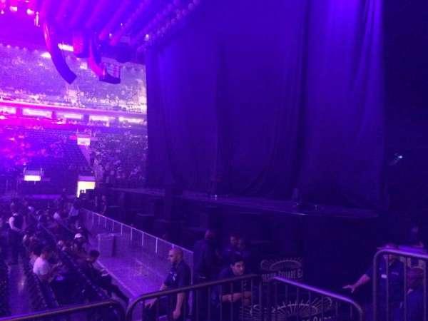 Madison Square Garden, secção: 108, fila: 3, lugar: 5