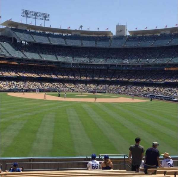Dodger Stadium, secção: 313PL, fila: N, lugar: 8