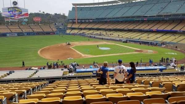 Dodger Stadium, secção: 137LG, fila: O, lugar: 6