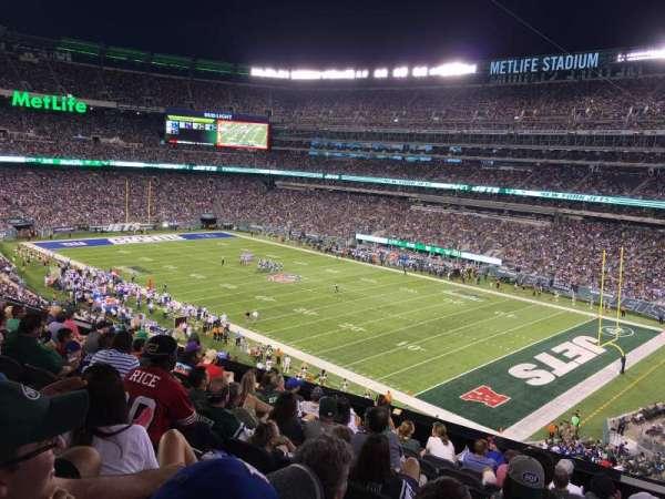 metlife stadium, secção: 233, fila: 10, lugar: 1