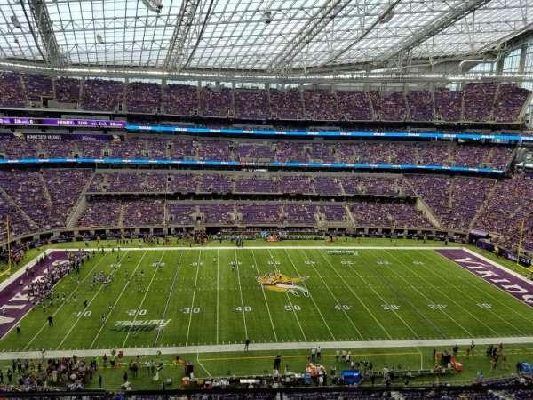 U.S. Bank Stadium, secção: 313, fila: A, lugar: 10