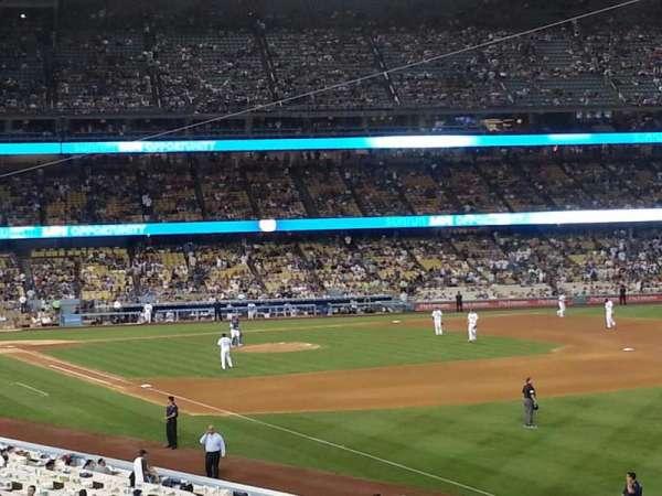 Dodger Stadium, secção: 160LG, fila: B, lugar: 10