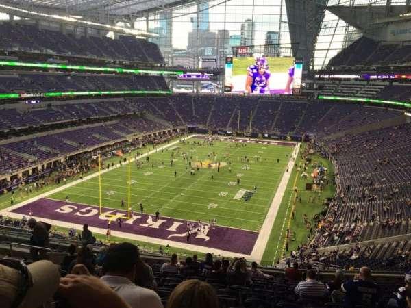 U.S. Bank Stadium, secção: 221, fila: 14, lugar: 17