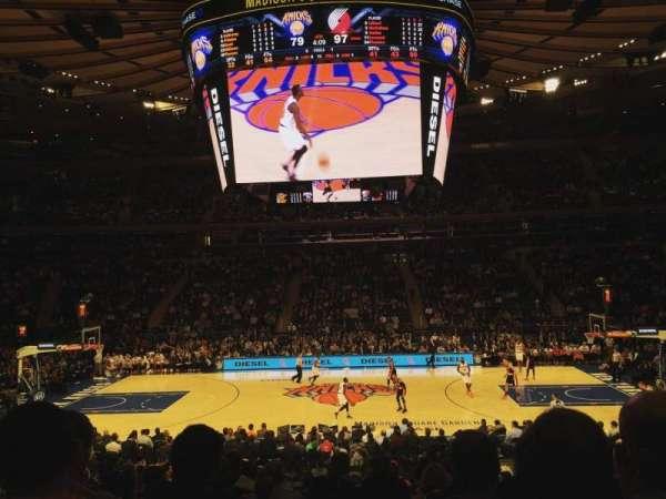 Madison Square Garden, secção: 117, fila: 15, lugar: 5