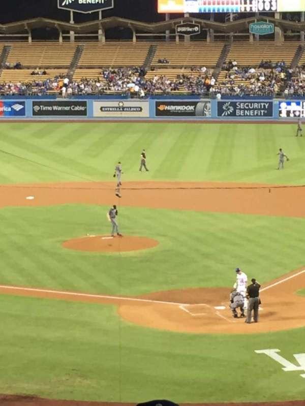 Dodger Stadium, secção: 109LG, fila: s, lugar: 2