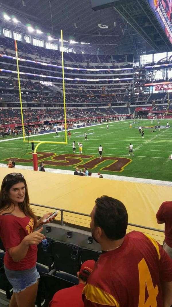 AT&T Stadium, secção: 122, fila: 12, lugar: 1