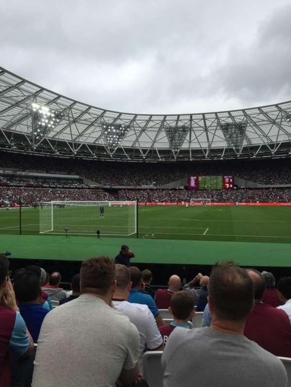 London Stadium, secção: 125, fila: 9