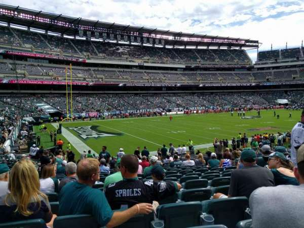 Lincoln Financial Field, secção: 134, fila: 21, lugar: 11