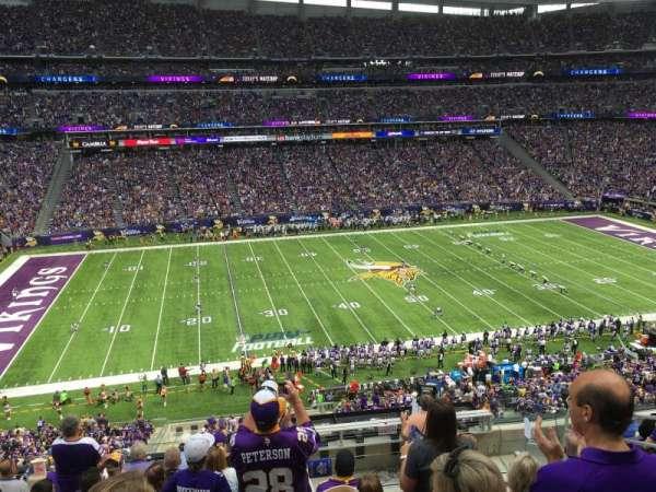 U.S. Bank Stadium, secção: C10, fila: 9, lugar: 5