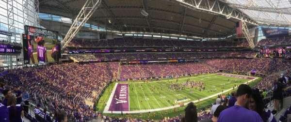 U.S. Bank Stadium, secção: 238, fila: 7, lugar: 5