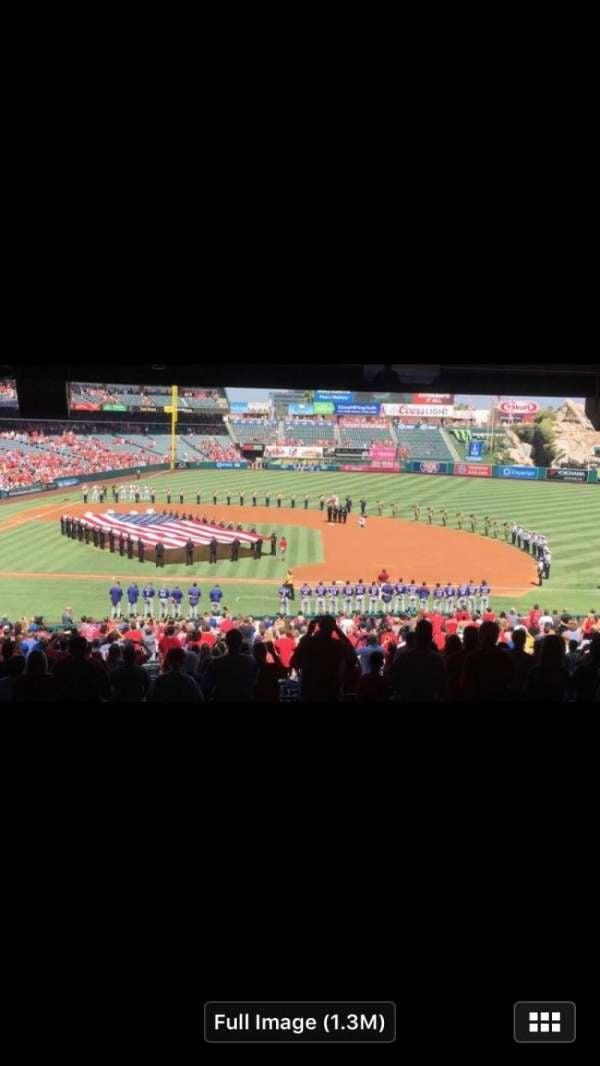 Angel Stadium, secção: 228, fila: E, lugar: 9-14