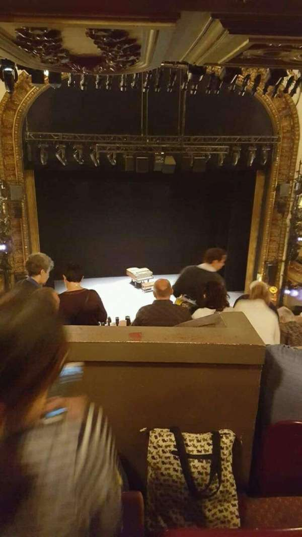 Palace Theatre (Broadway), secção: mezzanine (rear), fila: L, lugar: 115