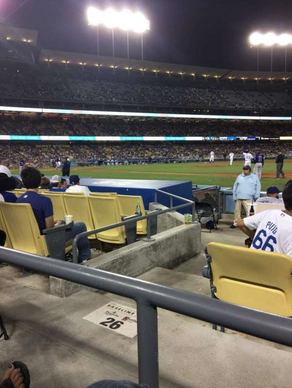 Dodger Stadium, secção: 26FD, fila: A, lugar: 6