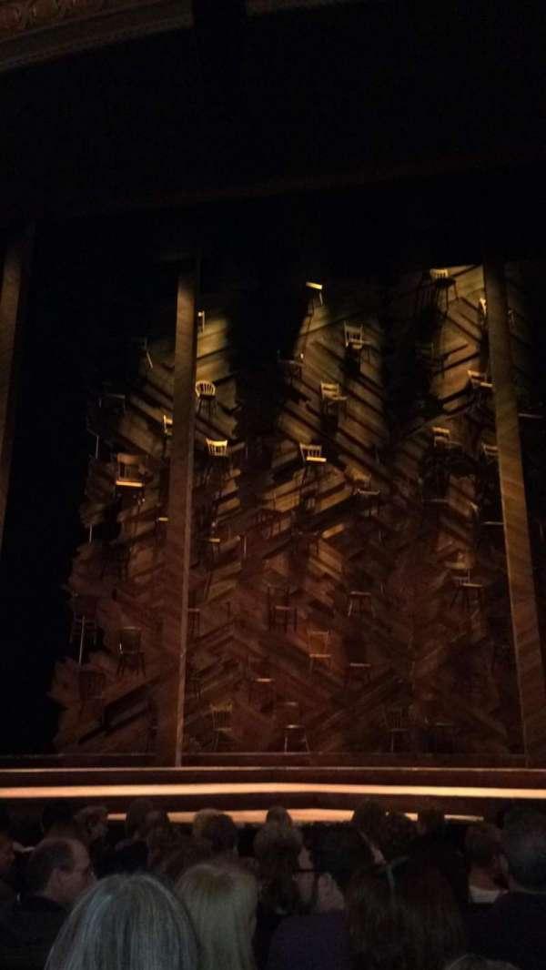 Bernard B. Jacobs Theatre, secção: Orchestra C, fila: H, lugar: 106