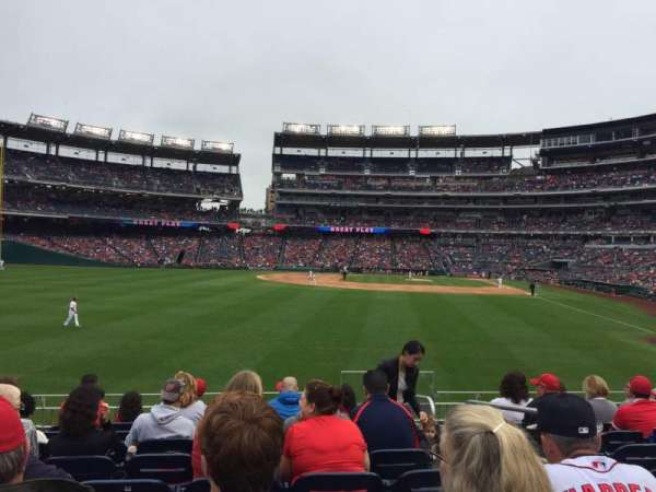 Nationals Park, secção: 104, fila: J, lugar: 3