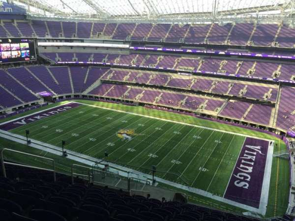 U.S. Bank Stadium, secção: 308, fila: 12, lugar: 17