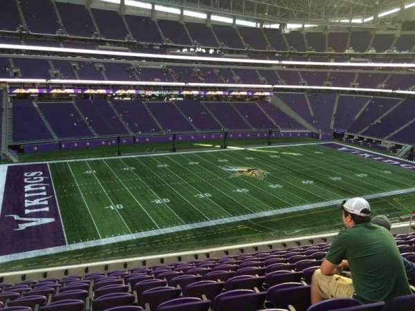 U.S. Bank Stadium, secção: 238, fila: 10, lugar: 19