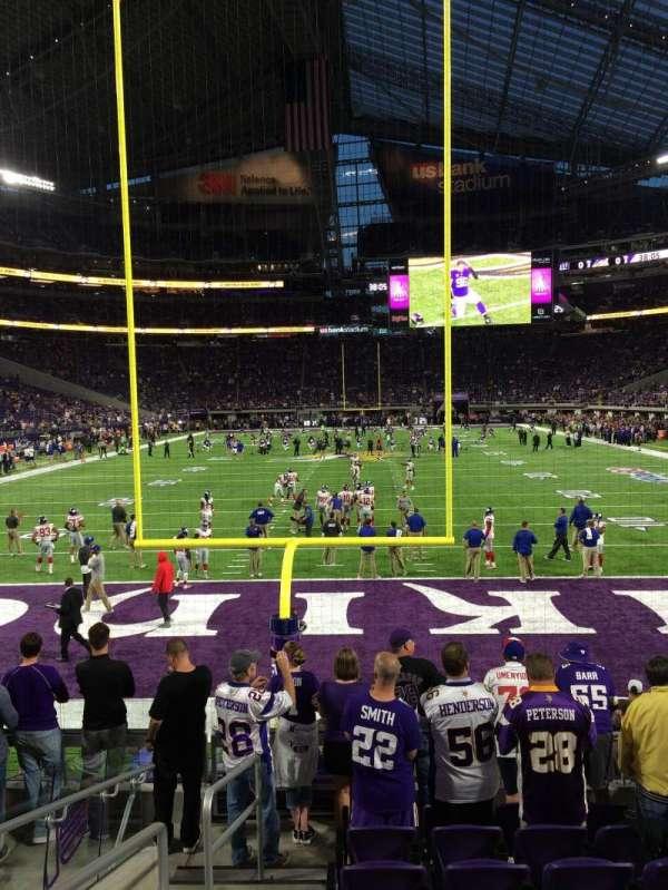 U.S. Bank Stadium, secção: 141, fila: 8, lugar: 19
