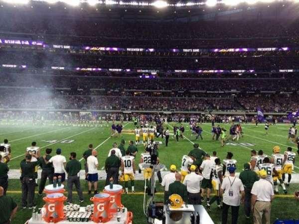 U.S. Bank Stadium, secção: V3, fila: 1