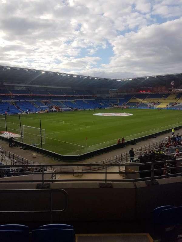 Cardiff city stadium, secção: 121, fila: Y, lugar: 57