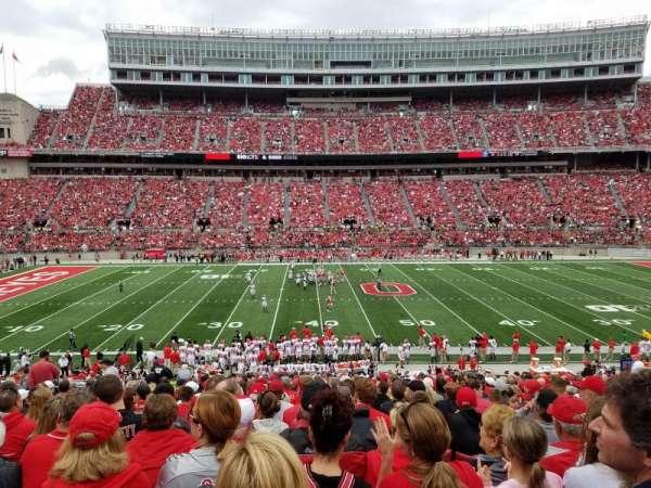Ohio Stadium, secção: 22A, fila: 23, lugar: 23